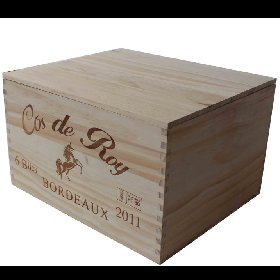 Wood wine boxes for two bottles