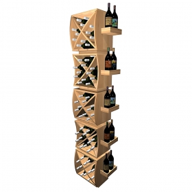5 layer creative Cubic wooen wine racks for sale
